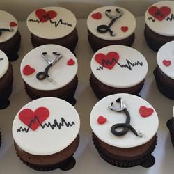 chocolate cupcakes for a cardiologist. #sydneycupcakes #cakesbyheidi.com