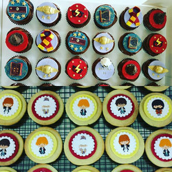 Harry Potter Birthday cupcakes and cookies