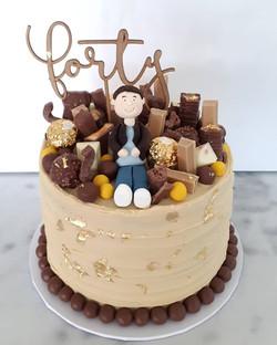 Forty! Happy Birthday Luke! Caramel mudc