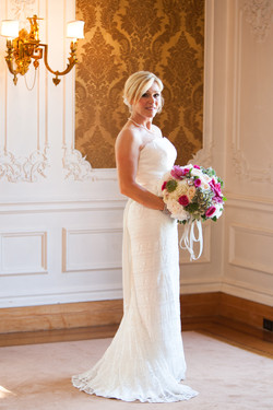 Bride in the Lippitt House drawing room