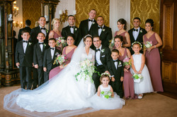 Wedding party in the Lippitt House drawing room
