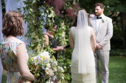 Wedding in the Lippitt House garden