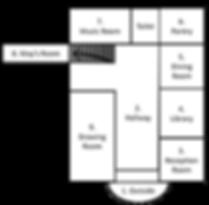 Lippitt House Museum asl tour floor plan