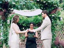 Wedding ceremony in the Lippitt House garden