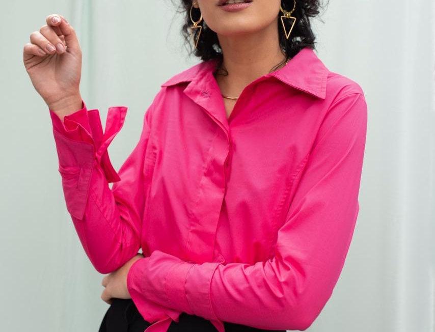 Camisa Margaret - Rosa Persa