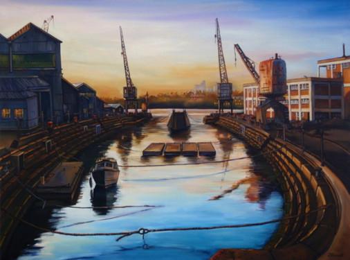 CK66  Sunrise, Fitzroy Dock   2007  oil