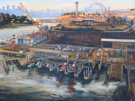 P243A 'Water Police site' 1991 oil on ca