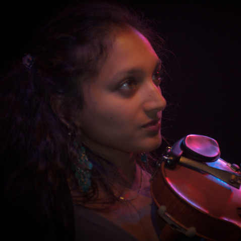 """Preetha Narayanan is a highly accomplished violinist who has performed and led creative projects extensively around the world as a soloist, collaborator, and in her own ensembles, FLUX, Quest Ensemble, and Balladeste. Merging Western and Indian Classical training, Preetha is sought after for her distinctive voice and unique sound. Preetha says: """"It feels wonderful through The Kids' Concert Company to bring high quality live music from such a diverse range of cultures to young people in an interactive way undoubtedly broardening their horizons."""""""