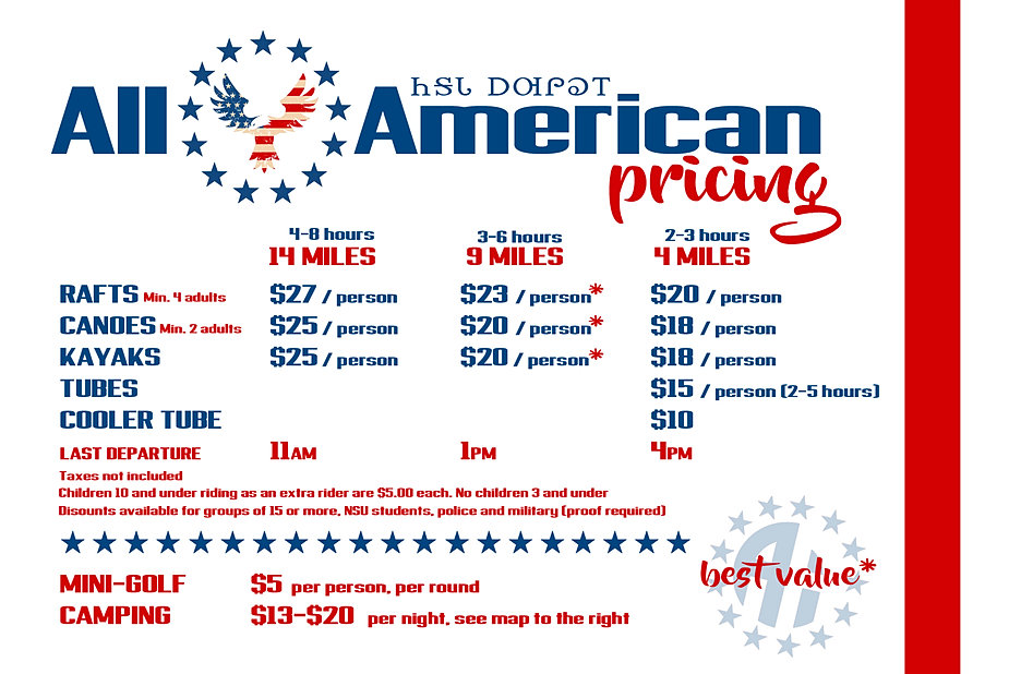 all american floats   information and pricing
