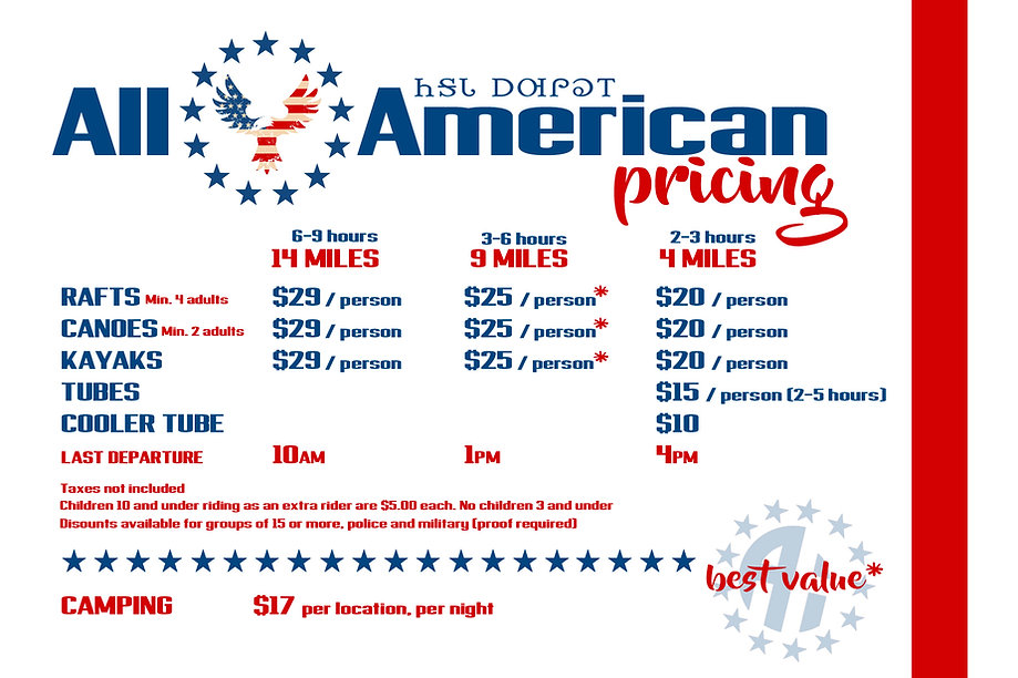 All American Floats Pricing