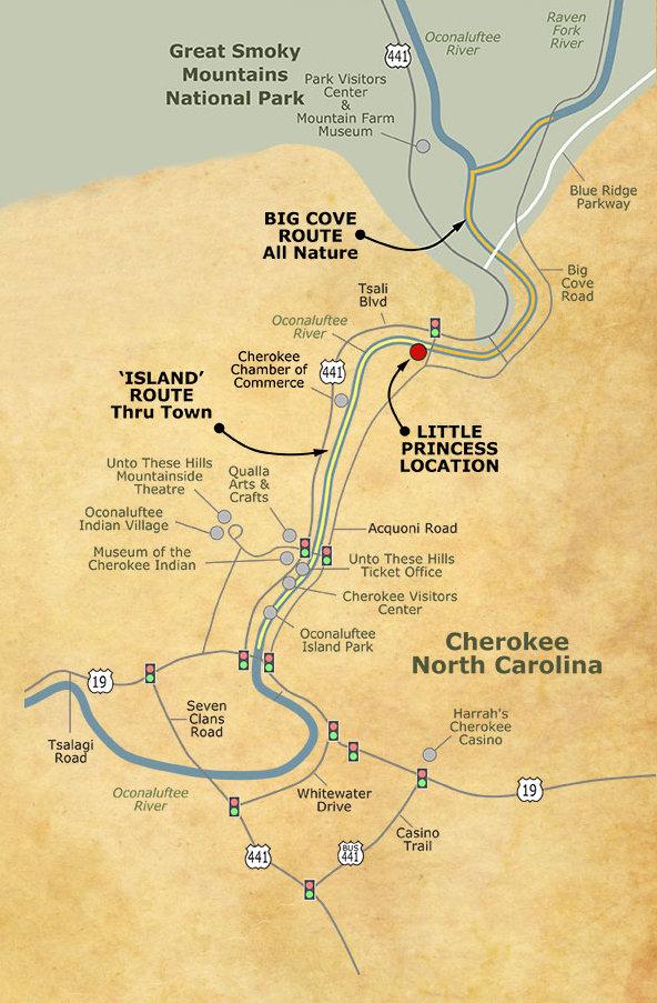 Cherokee Rapids Map