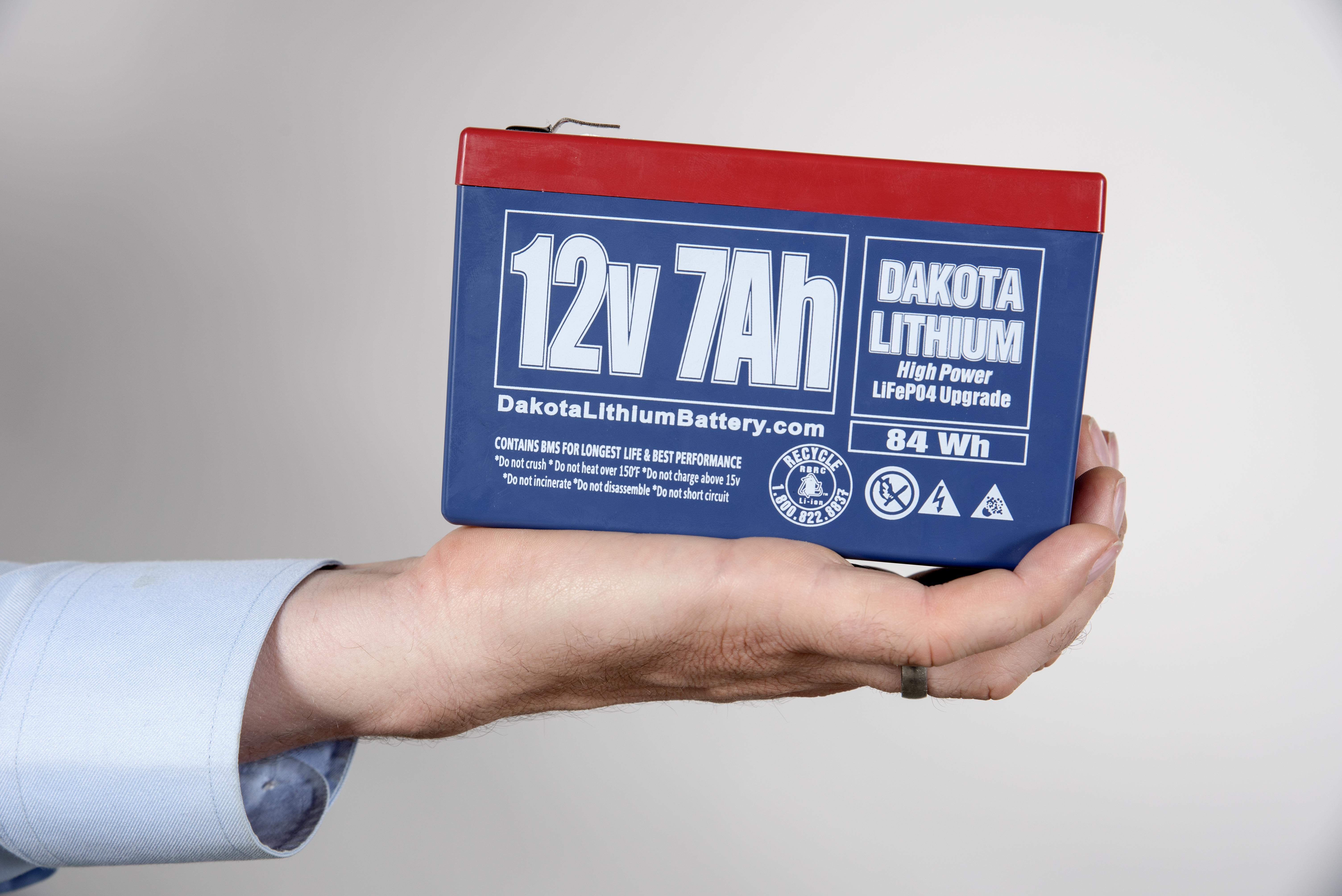 12 V Dakota Lithium Battery 7 Ah Lifepo4 Short Circuit