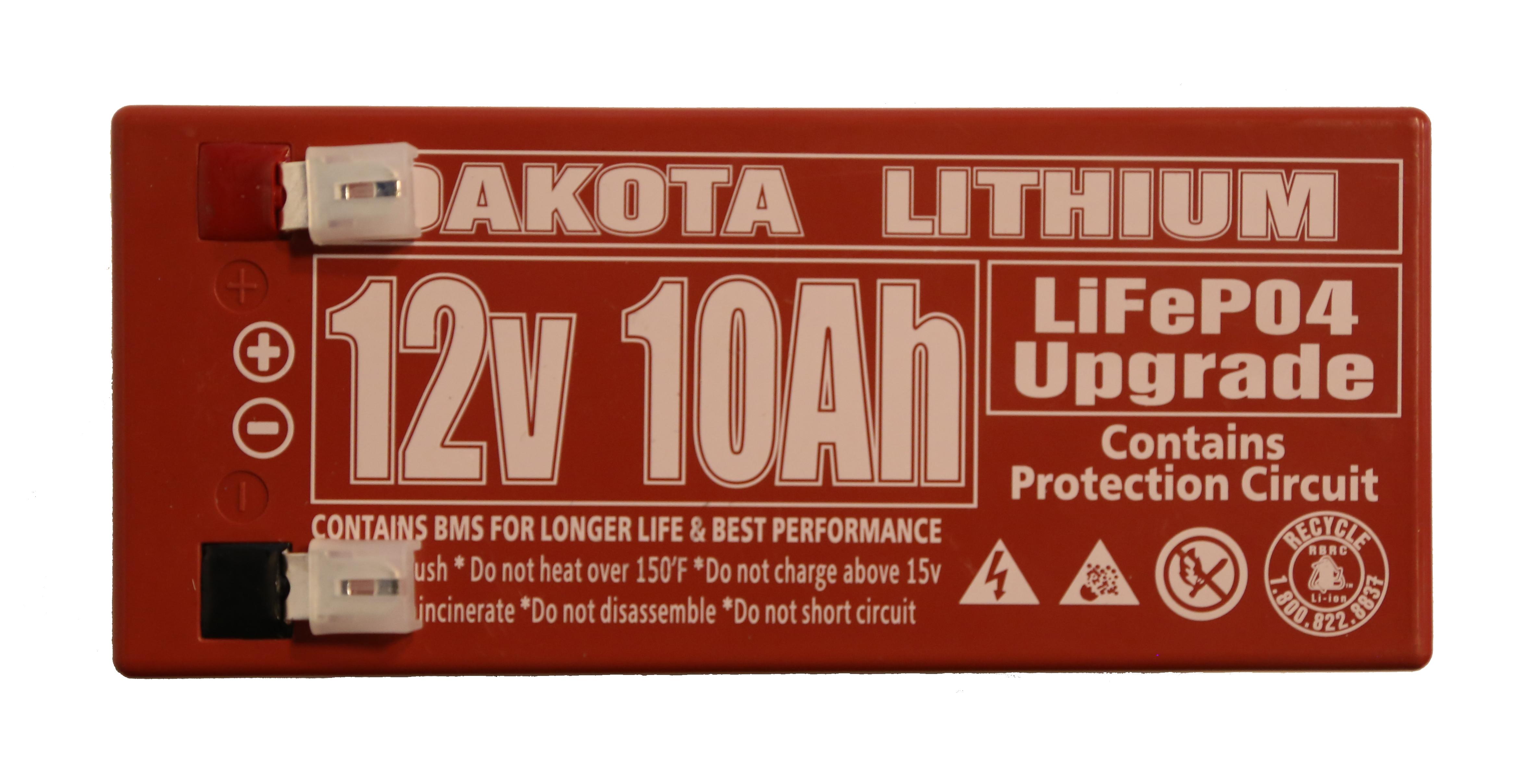12 V Dakota Lithium Battery 10 Ah Lifepo4 Short Circuit Protection Buy Top Copy