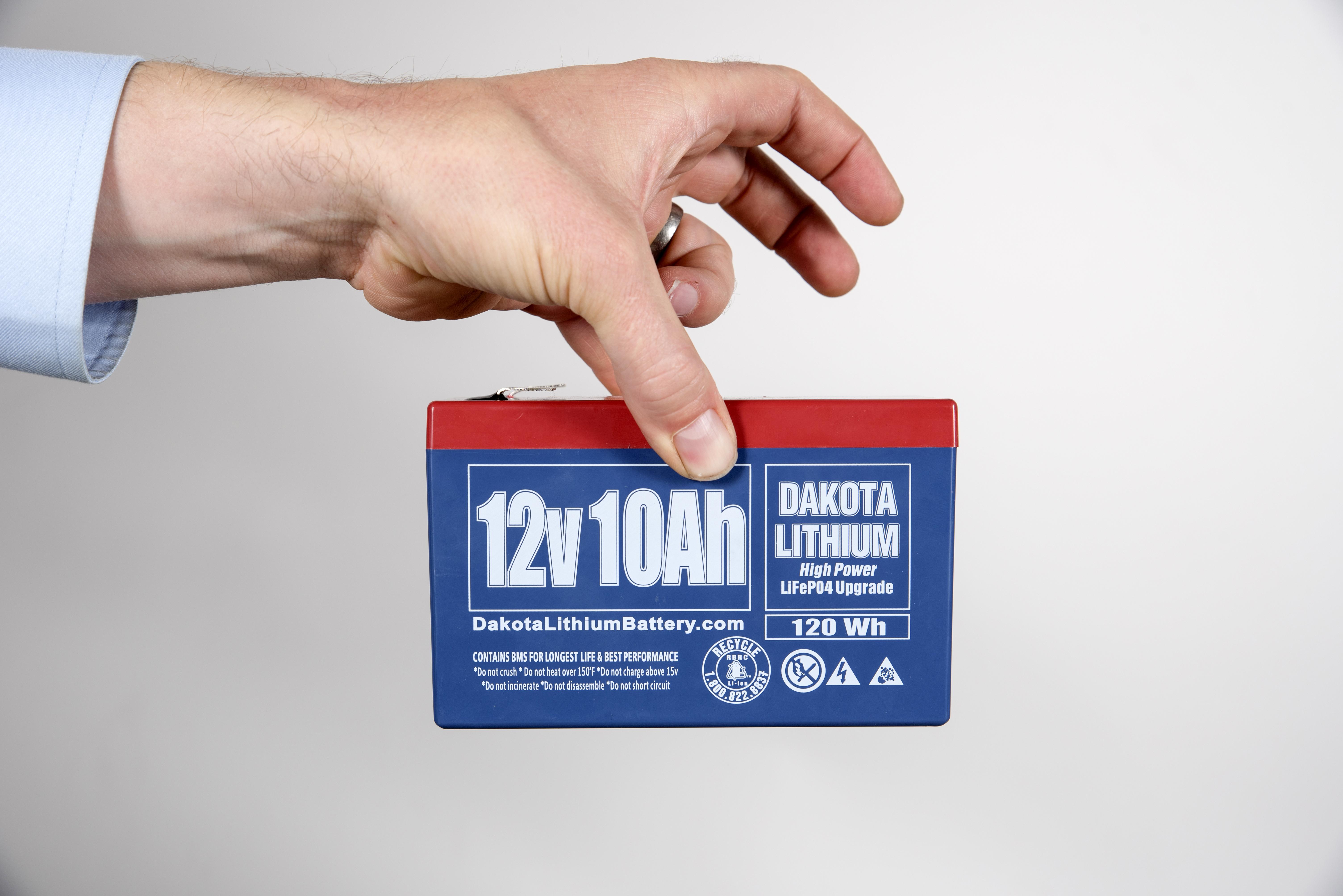 12 V Dakota Lithium Battery 10 Ah Lifepo4 Re Sla Cutoff Circuit Required Dsc 6922