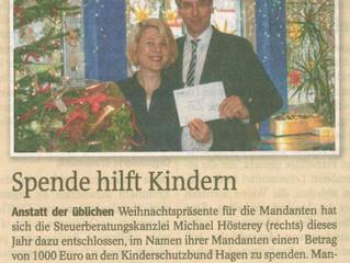 Unsere Spendenaktion in der Westfalenpost