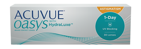 ACUVUE OASYS®1-Day with HydraLuxe™Technology for Astigmatism