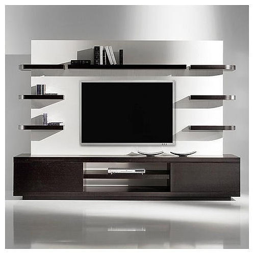 Modern TVunit with horizontal blocks