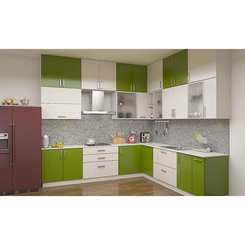 modern kitchen cabinet [green and white] colour