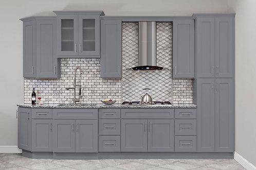 grey colour kitchen cabinet