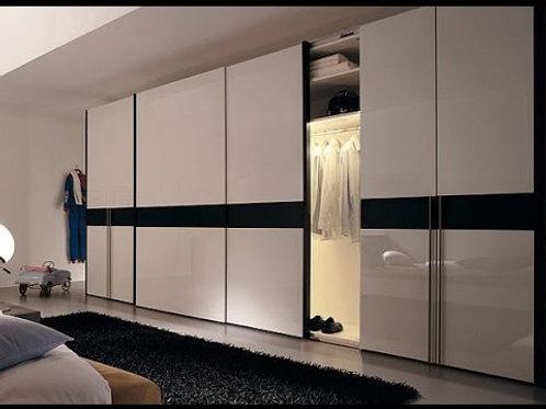 Sliding + 2 opening bedroom cupboards