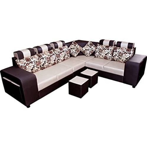 Heavy look designed l-shape sofa with two soft setters