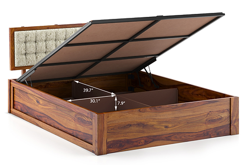 Hydraulic bed cot with [4] storage barrels