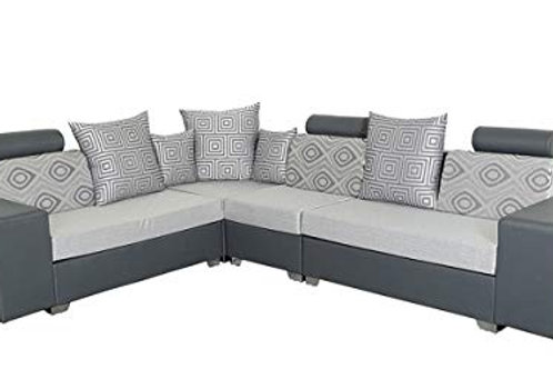 Modern matte grey colour L-shape sofa