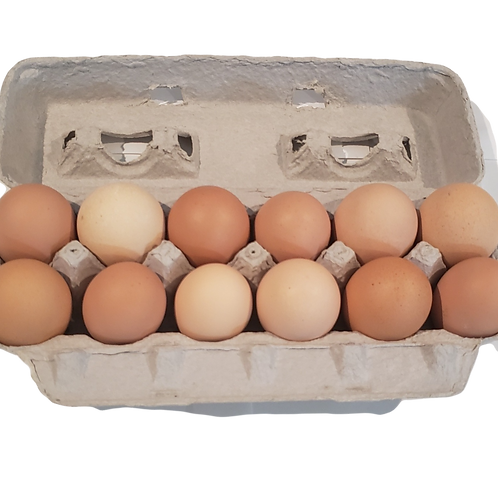 12 Farm Fresh Eggs (Washed)
