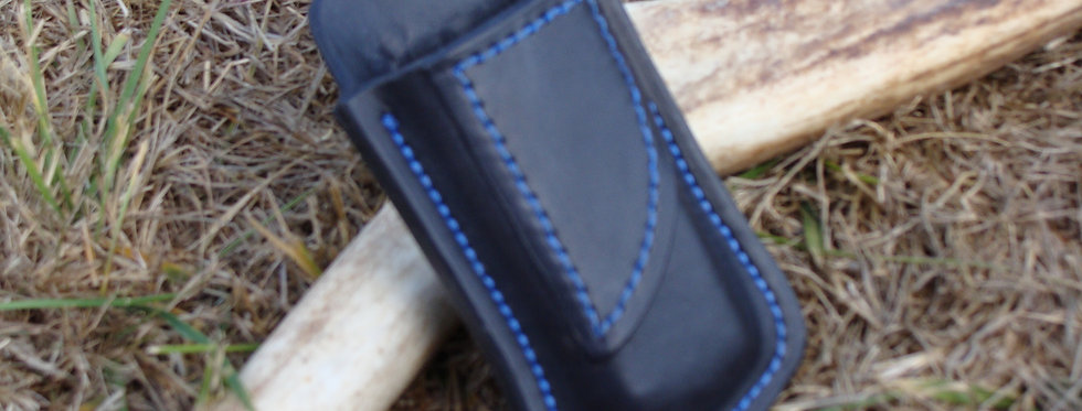 OWB Single Mag with Clip Black with Blue thread