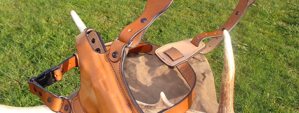 """Back Country"" Chest Holster from Horizon Country Leather"