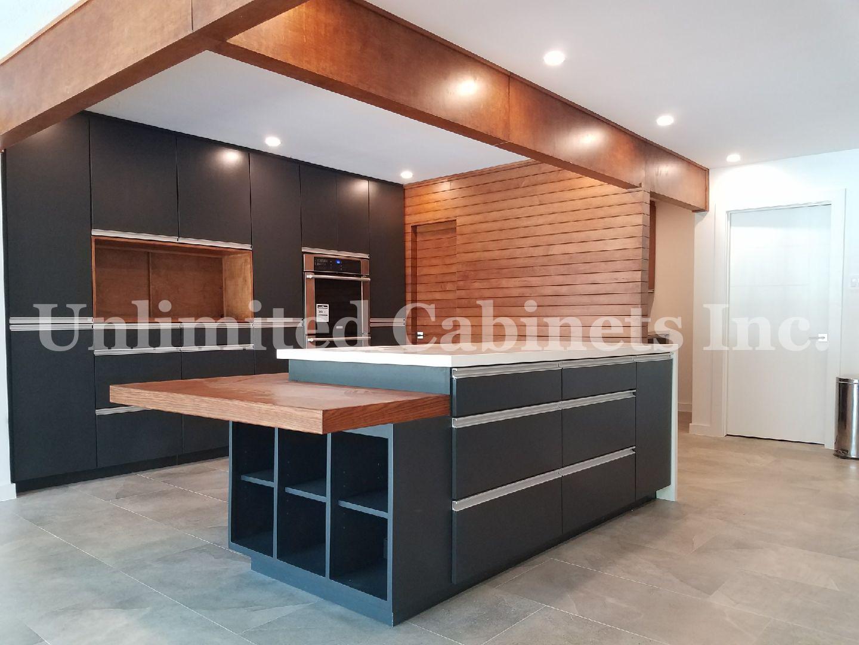 Modern Matte Black Kitchen