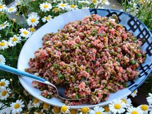 Çilek Soslu, Maş fasulyeli Kinoa Salatası