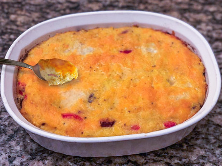 Baked Cheese Grits with Sausage