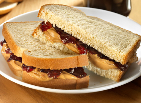 Peanut butter and Jelly with bread and delicious creamy butter recipe. Easy directions and common ingredients to make yummy sandwich that is comforting.