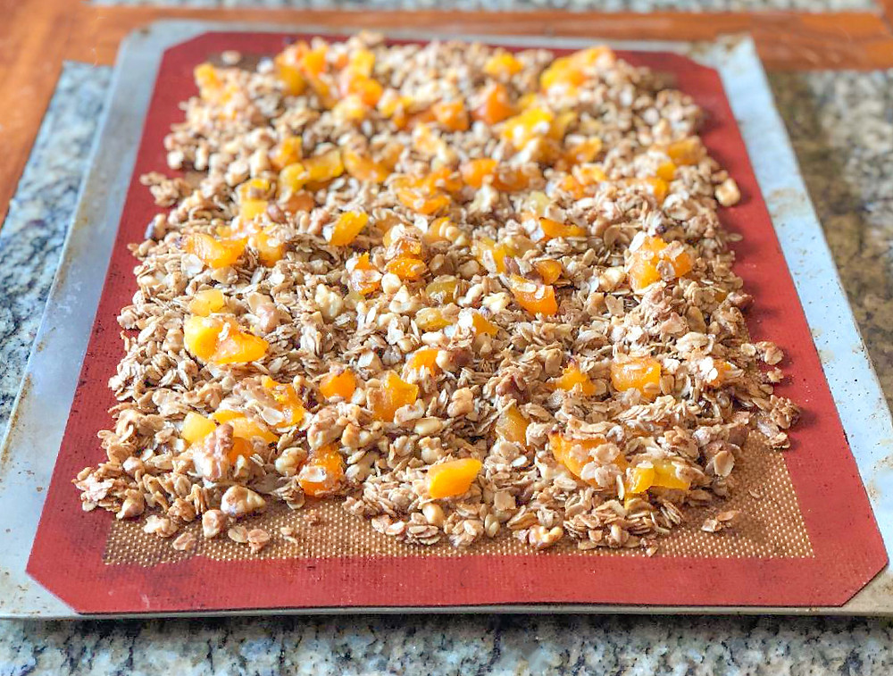 Healthy Dried Fruit Granola side view