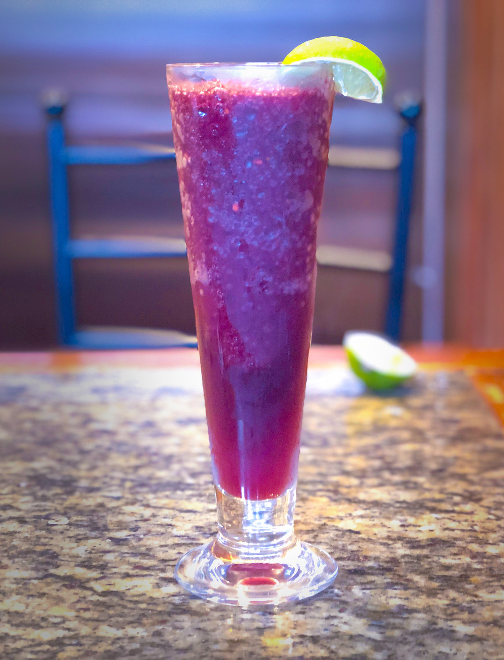 Fruit Berry Smoothie in a Tall Glass