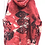 Thumbnail: 3xl  dark coral hoodie with mask anf crazycoolsexy  print