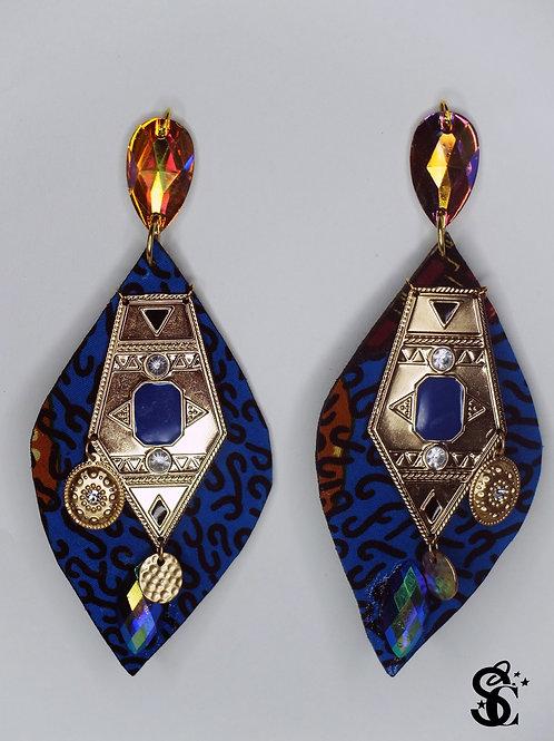 LUSTROUS OPAL BLUE LEAF EARRINGS