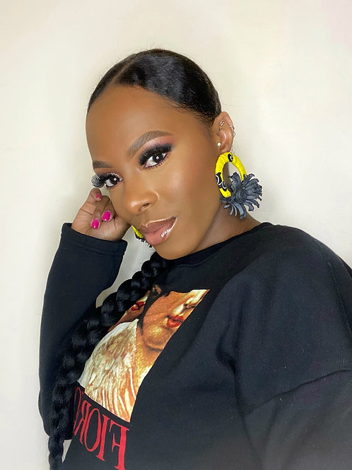 Wrap flower earrings