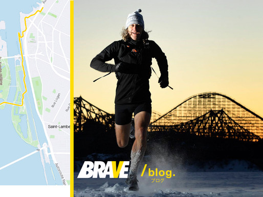 Instead of commuting, this BRAVE man runs across the frozen river every day.