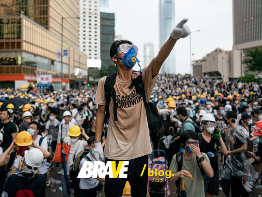 BRAVE Hong Kong protesters fighting for freedom and democracy.