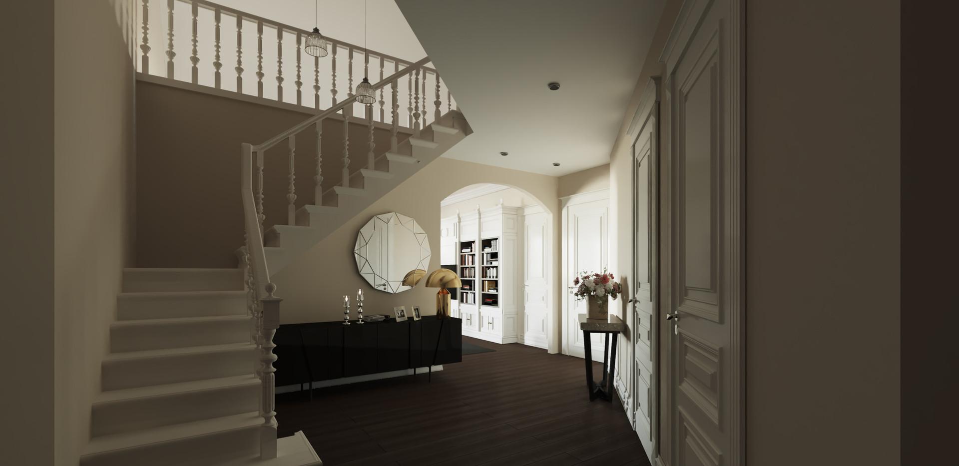 Before Stairway Skylights