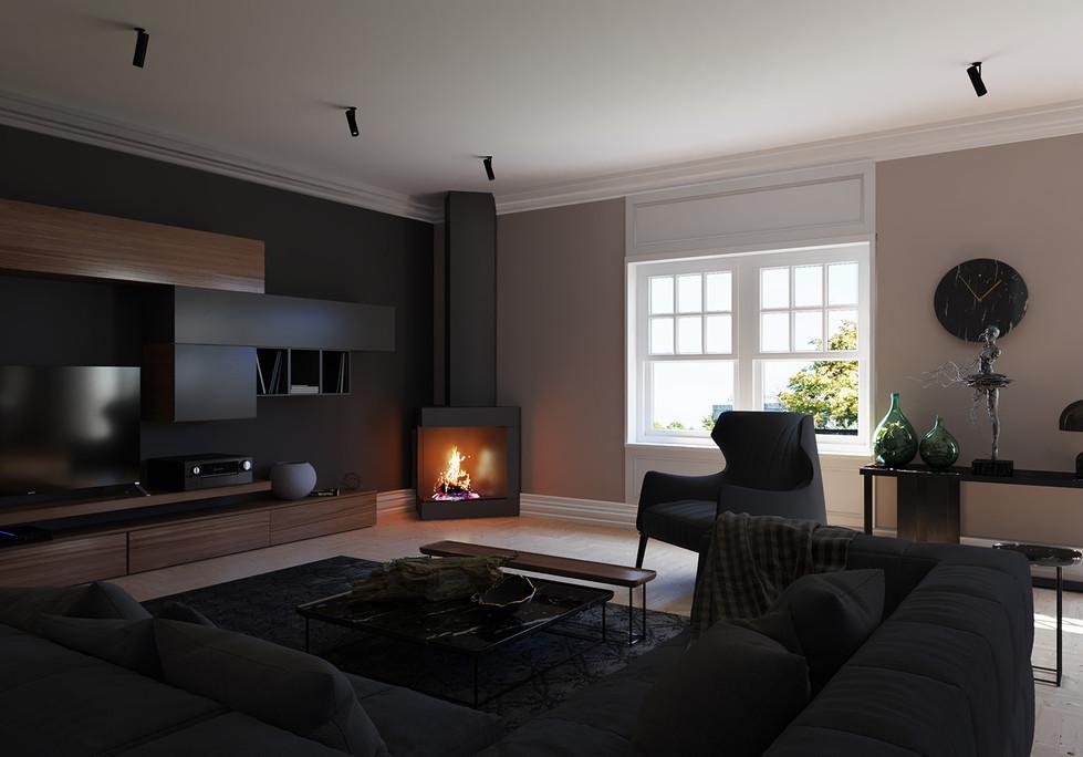Living Room Before Skylights