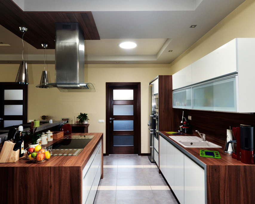 Sun Tunnels in kitchen