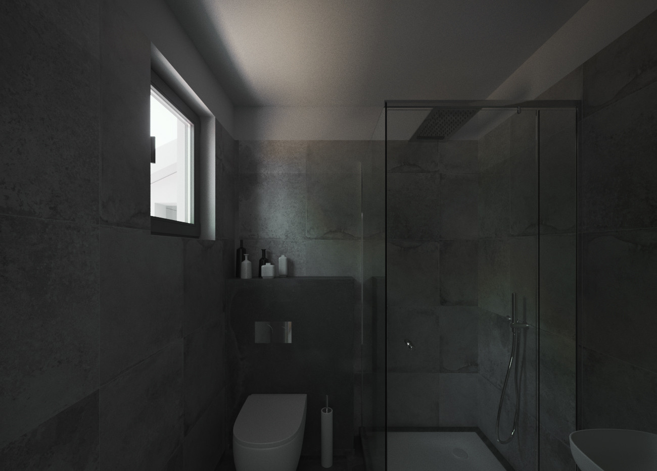 Gloomy Washroom