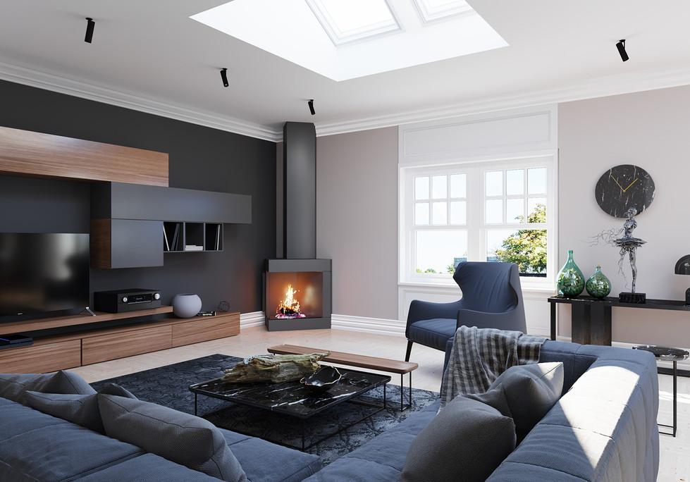 Living Room Post Skylights
