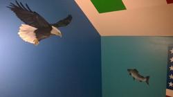 Bald Eagle and Salmon