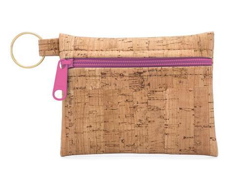 Be Organized Key Chain w/Fuchsia Zipper