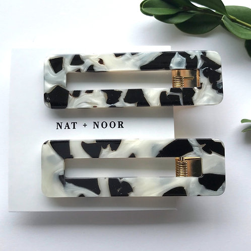 Nat + Noor Tortoise Shell Hair Clips