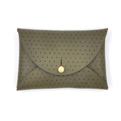 Leather Wallet Pouch in Olive